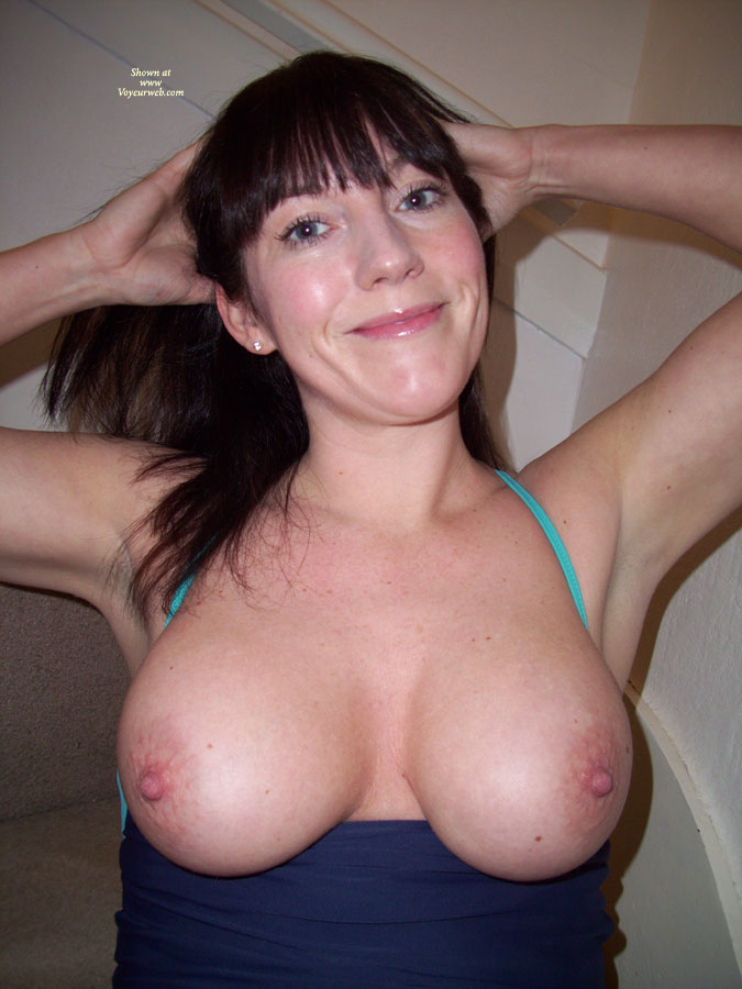 Pic #1 - Large Breasts With A Smile - Big Tits, Dark Hair, Firm Tits, Large Breasts, Long Hair , Big Melon Tits, Broad Smile, Firm And Ripe, Large Areola, Shining Hazel Eyes, Round Tits, Showing Her Armpits, Arms Up Tits Out