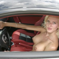 Nude Sexy Girl In Audi - Blonde Hair, Exhibitionist, Firm Tits, Hard Nipple, Perky Tits, Topless, Naked Girl, Nude Amateur, Sexy Boobs, Sexy Woman