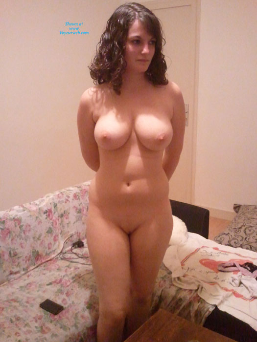 Pic #1 - Nude Busty Brunette With Arms Behind Her - Brunette Hair, Bald Pussy, Naked Girl, Nude Amateur , Fun For Naked Wrestling, Full Frontal, Lighting From Above, Beautiful Curves, Soft Smooth Twolly, Nude And Waiting, Big Boobs, Voluptuous Body, Huge Bombs, Curly Hair