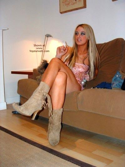 Pic #3 - Blonde Babe Smoking