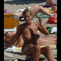 Big Tits Voyeur Beach - Big Tits, Blonde Hair, Huge Tits, Topless Beach, Topless, Beach Tits, Beach Voyeur, Sexy Girl