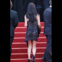 See Through Dress In Public - Black Hair, Heels, See Through, Sexy Girl