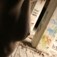 Arty Photo Of Pierced Nipples - Pierced Nipples, Topless