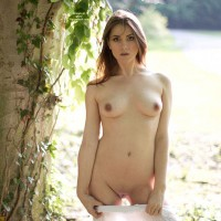 Nude Sexy Chick In The Woods - Flashing, Small Breasts, Hairless Pussy, Naked Girl, Sexy Face, Sexy Figure, Sexy Girl, Sexy Girlfriend, Sexy Woman