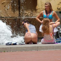 Bottomless Chick In Public - Flashing, Nude In Public