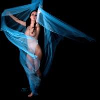 Nude Dancing - Black Hair, Erect Nipples, Naked Girl