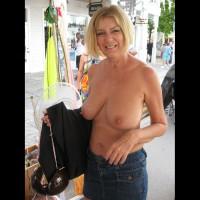 Mature Tit Flash - Blonde Hair, Flashing, Topless