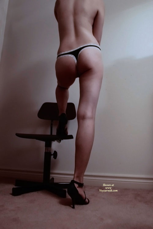 Pic #1 - New Panties , She Bought A New Panties From Victoria's Secret, And Try Out. I Just Grab The Camera To Shoot. After All Shots, Her Pussy Is Wet, So I Put Down The Cam And Fuck Her. Please Give Her Some Comments!!
