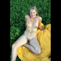 Blonde With Bald Pussy Nude Outdoor - Blonde Hair, Nude Outdoors, Shaved Pussy, Spread Legs, Bald Pussy, Naked Girl