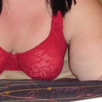 Teasing Hubby With Cleavage Around The House :)