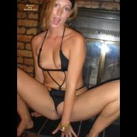 Jenna Fireplace Fun 1