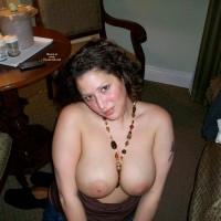 Wife's Big Tits - Big Tits, Dark Hair, Large Aerolas, Topless