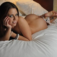 Nude Gurl Lying On Bed Sunny Side Up - Black Hair, Brunette Hair, Nude Amateur