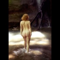 Nude In Nature - Blonde Hair, Nude In Nature, Nude Outdoors, Pale Skin, Round Ass