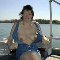 Cath on the Boat