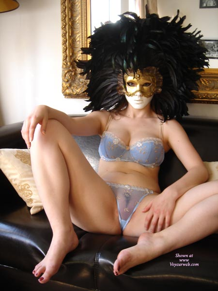 Pic #1 - See Through Panties - See Through Panties, Spread Legs, Sexy Lingerie , See Through Panties, Spread Legs, Lingerie, Mask On Face, Feathers