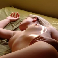 Naked On Bed - Blonde Hair, Naked In Bed