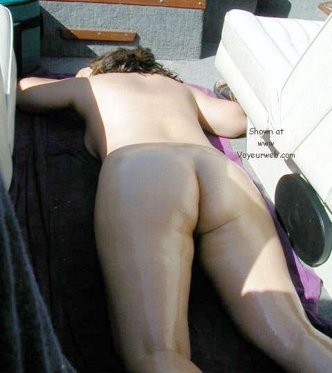 Pic #1 - my wife tanning