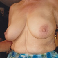 Very large tits of my wife - old bitch