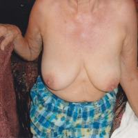 Large tits of my wife - old bitch