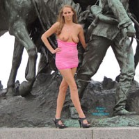 Molly's Statue Pics - Big Tits, Blonde Hair, Nude In Public, Pussy Lips