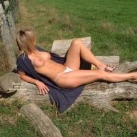 Open Dress - Erect Nipples, Large Breasts, Long Legs