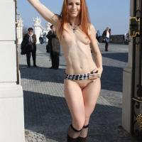 Vienna Flashing in Bratislava - Exposed In Public, Nude In Public, Redhead, Shaved, Dressed