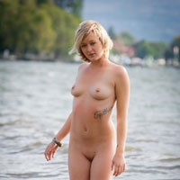 Sweet Afternoon - Blonde Hair, Pussy Lips, Shaved, Beach Voyeur, Sexy Ass, European And/or Ethnic