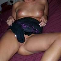 Very small tits of my wife - Jette