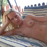 Around The House - Blonde Hair, Hard Nipple, Heels, Long Legs, Natural Tits, Pussy Lips, Shaved, Small Tits, Sexy Ass