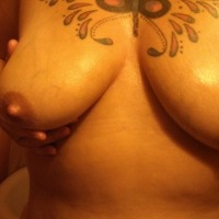 Large tits of my wife - none