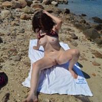 Fun at The Beach - Big Tits, Bikini, Brunette Hair, Pussy Lips, Beach Voyeur, Wife/Wives