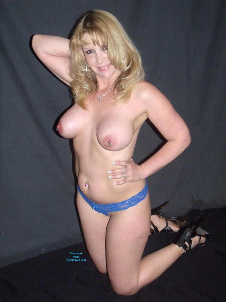 Pic #1 - More of Me - Big Tits, Blonde Hair, Navel Piercing, Pussy Lips, Small Tits