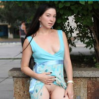 Milf Kiki - Brunette Hair, Exposed In Public, Flashing, Hard Nipple, Nude In Public, Perfect Tits, Pussy Lips, Shaved, Dressed