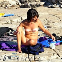Play of Sun and Shadow - Brunette Hair, Beach Voyeur