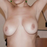 Very large tits of a co-worker - curly