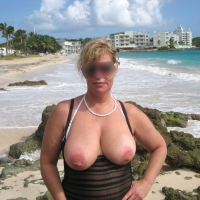 Very large tits of my wife - Suzy