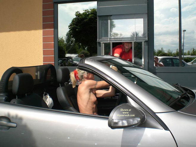 Pic #1 - Nude Drive-through - Blonde Hair, Exhibitionist, Flashing, Nude In Public, Topless, Naked Girl, Nude Amateur , Topless Driving, Public Nudity, Exhibitonist, Nude Chick At Take Away, Topless Times, Drive Through, Topless Woman At Take-out Window, Nude Driving, Naked In Public, Sitting In A Car, Nude Drive Thru, Skinny Naked Blonde Going Thru Drive Thru, Nude Flashing In Car At Fast Food Drive Up Window
