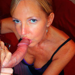 Blonde On The Blowjob - Blonde Hair, Sexy Lingerie, Blowjob
