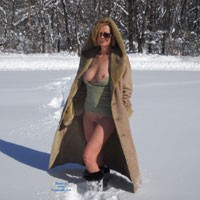 Flashing In A Cold Day - Big Tits, Blonde Hair, Boots, Erect Nipples, Exposed In Public, Firm Tits, Flashing Tits, Flashing, Nipples, No Panties, Nude In Nature, Nude In Public, Nude Outdoors, Perfect Tits, Shaved Pussy, Showing Tits, Hot Girl, Sexy Body, Sexy Boobs, Sexy Face, Sexy Figure, Sexy Girl, Sexy Legs, Sexy Woman
