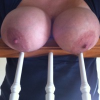 Very large tits of my wife - DDDwife