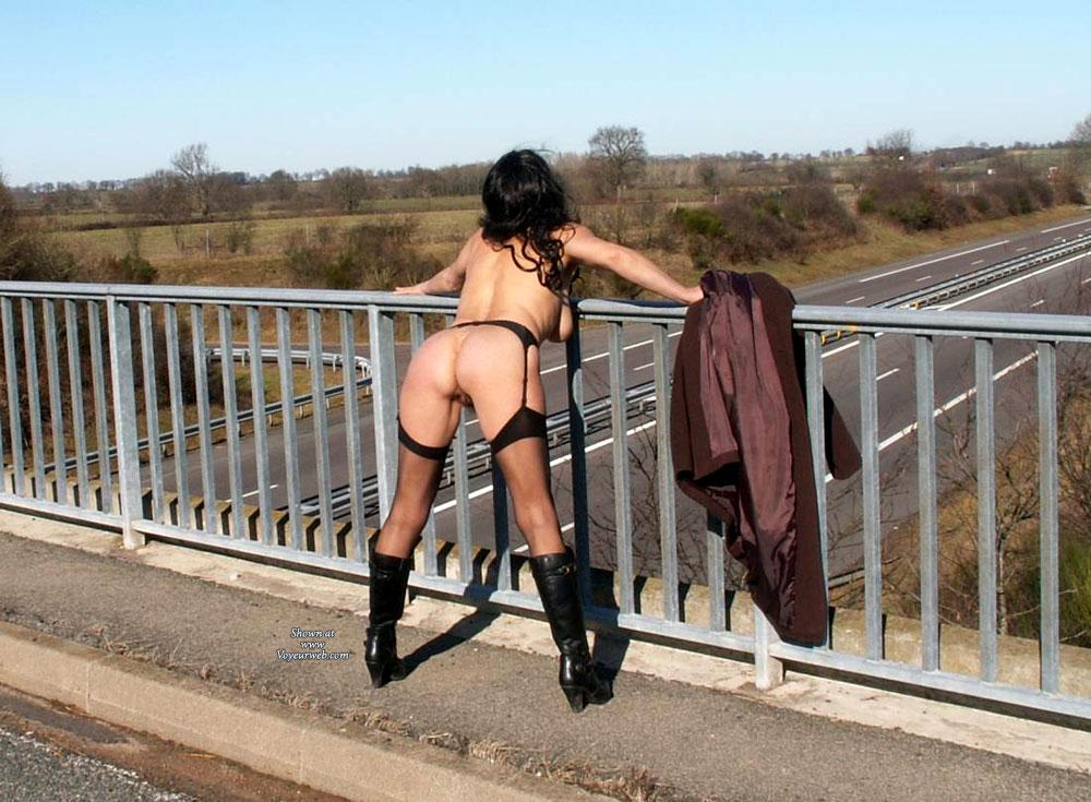 Pic #1 - My Wife - Brunette Hair, Exposed In Public, Round Ass, Sexy Lingerie , Some Pics From Our Last Series.