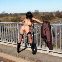 My Wife - Brunette Hair, Exposed In Public, Round Ass, Sexy Lingerie