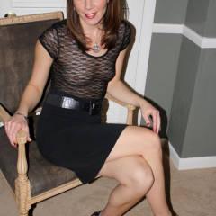 High Heels, Black Skirt And See Through Blouse - Flashing, Heels, Milf, See Through, Hot Wife