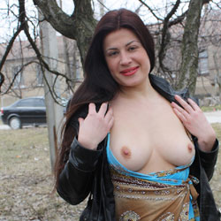 Look At My Firm Tits - Big Tits, Brunette Hair, Erect Nipples, Exposed In Public, Firm Tits, Flashing, Hard Nipple, Nipples, Nude In Public, Nude Outdoors, Perfect Tits, Red Lips, Showing Tits, Sexy Boobs, Sexy Face, Sexy Figure, Sexy Girl, Sexy Legs, Sexy Woman, Wife/Wives
