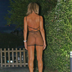 Busty Butt Outside - Blonde Hair, Exposed In Public, Heels, No Panties, Round Ass, See Through, Hot Girl, Sexy Ass, Sexy Body, Sexy Girl, Sexy Legs, Sexy Woman