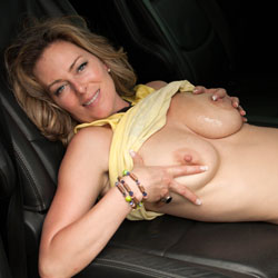Squeezing Big Tits In The Car - Big Tits, Blonde Hair, Erect Nipples, Firm Tits, Huge Tits, No Panties, Nude In Car, Shaved Pussy, Showing Tits, Hairless Pussy, Hot Girl, Naked Girl, Pussy Flash, Sexy Body, Sexy Boobs, Sexy Face, Sexy Figure, Sexy Legs, Sexy Woman, Wife/Wives