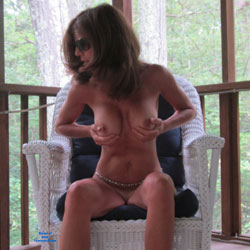 Squeezing Tits At The Balcony - Big Tits, Brunette Hair, Full Nude, Hanging Tits, Huge Tits, Indoors, Large Breasts, Showing Tits, Sunglasses, Sexy Body, Sexy Boobs, Sexy Face, Sexy Feet, Sexy Girl, Sexy Legs, Sexy Woman