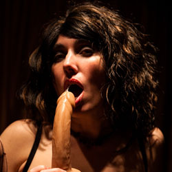 Horny Girl Licking Dildo - Brunette Hair, Erect Nipples, Firm Tits, Flashing Tits, Flashing, Indoors, Showing Tits, Hot Girl, Sexy Face, Sexy Girl, Blowjob, Toys