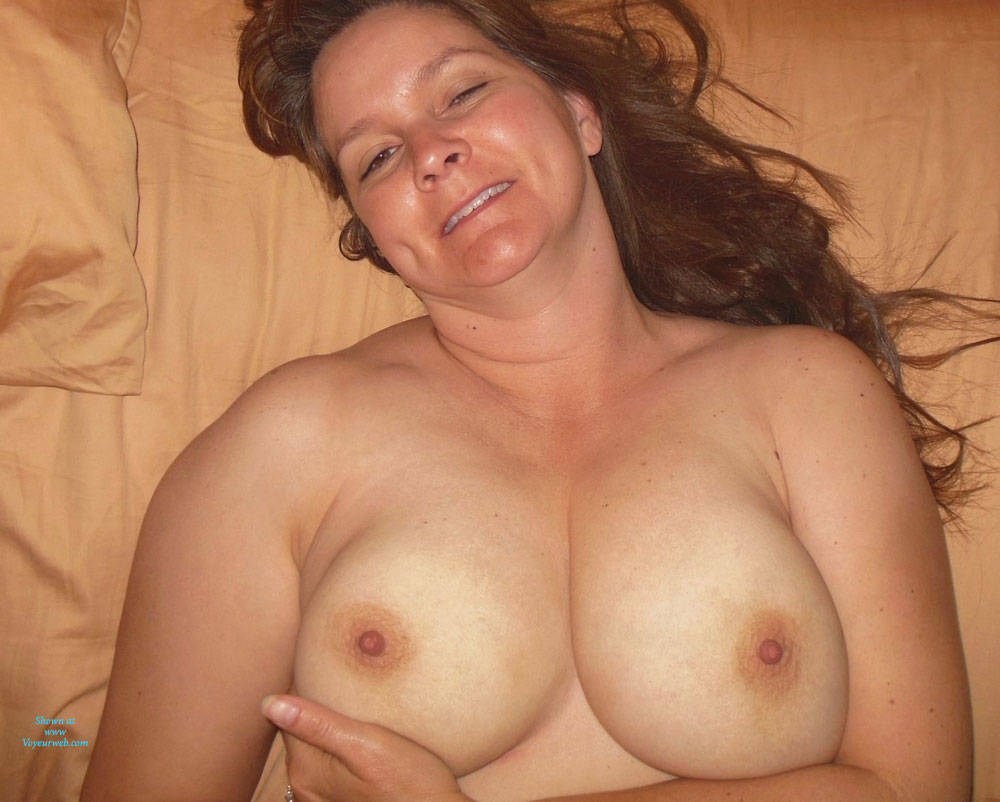 Pic #1 - Time For Bed - Big Tits, Brunette Hair , Just A Little Warm Up Before Bedtime.